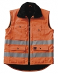 Sölden winter bodywarmer kleur oranje